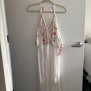 Target Cold Shoulder Ivory Midi Dress